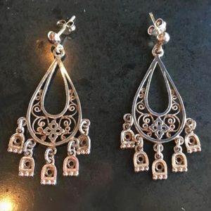Sterling Silver Chandelier Earrings